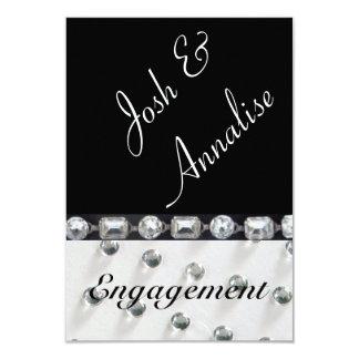 Convite moderno & elegante da festa de noivado
