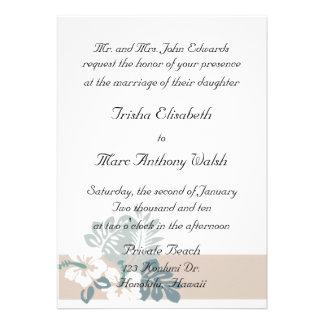 Convite moderno tropical do casamento