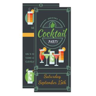 Convite na moda do cocktail do quadro