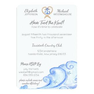 Convite náutico da festa de casamento do cargo