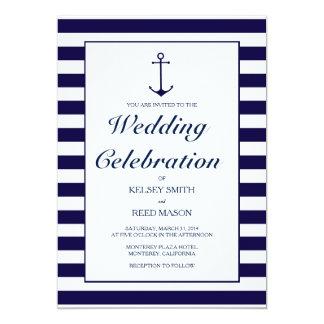 Convite náutico do casamento