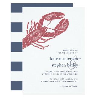 Convite náutico do casamento da lagosta de