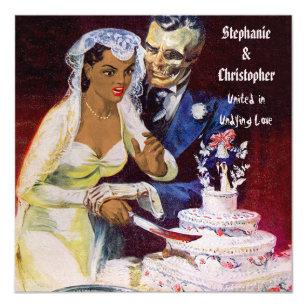 Convite Noiva étnica do horror do Dia das Bruxas e