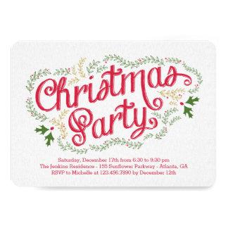 Convite nostálgico da festa de Natal