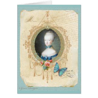 Convite novo do cartão da rainha Marie Antoinette