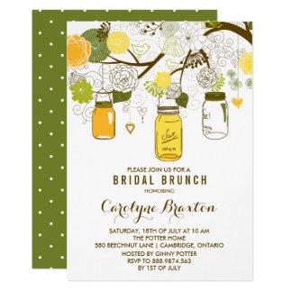 Convite nupcial da refeição matinal dos frascos de