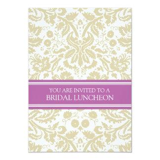 Convite nupcial do almoço do damasco da orquídea