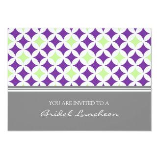 Convite nupcial do almoço do teste padrão cinzento convite 12.7 x 17.78cm