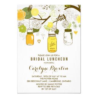 Convite nupcial do almoço dos frascos de pedreiro