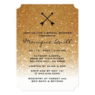 Convite nupcial do casamento Glam das setas do