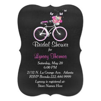 Convite nupcial do chá da bicicleta do quadro à