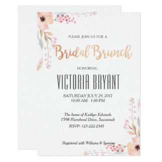 Convite nupcial floral bonito da refeição matinal