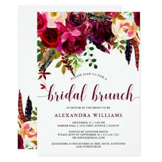 Convite | nupcial floral da refeição matinal de