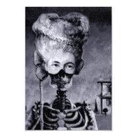 O esqueleto do Dia das Bruxas convida