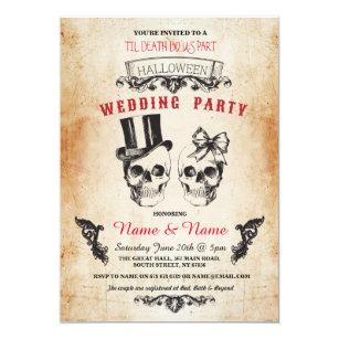 Convite O horror gótico do Dia das Bruxas da festa de