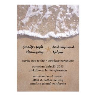 Convite ocasional do casamento do tema da praia