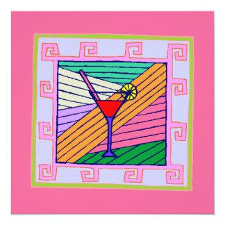 Convite ocasional do cocktail do teste padrão