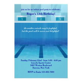Convite olímpico da festa na piscina