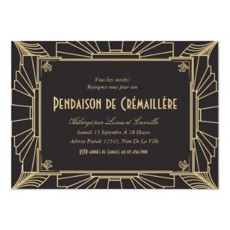 Convite orientado de parte pendaison 1920