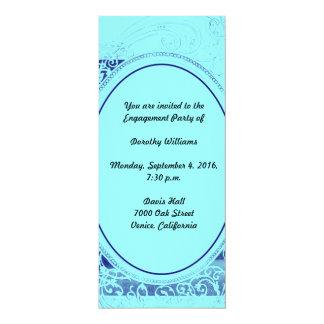Convite ostentoso da festa de noivado