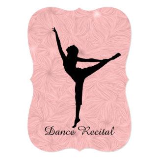 Convite ou anúncio do considerando da dança