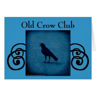 Convite ou cartão velho do clube do corvo