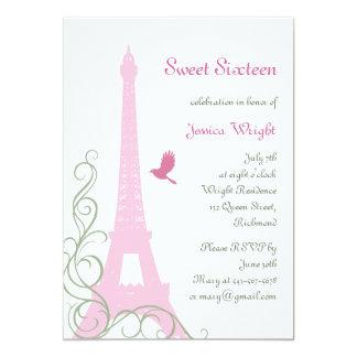 Convite parisiense do aniversário (branco)