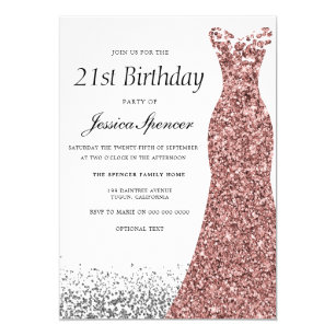 Convites Festas De Aniversário De 21 Anos Zazzlecombr