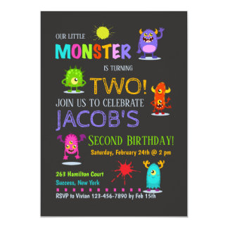 Convite parvo dos monstro
