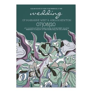 Convite Pastel do casamento da floresta de