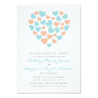 Convite Pastel do casamento do teste padrão dos