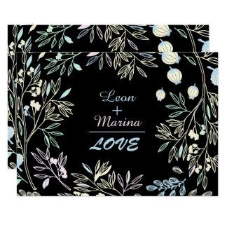 Convite Pastel lunático do casamento do jardim da
