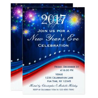 Convite patriótico azul branco vermelho da véspera