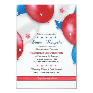Convite patriótico dos balões