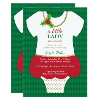 Convite pequeno da senhora chá de fraldas, Natal