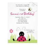 convite pequeno do aniversário do primavera do joa