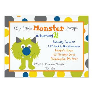 Convite pequeno do monstro