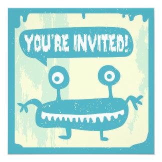 Convite pequeno do monstro - AZUL