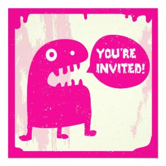 Convite pequeno do monstro - ROSA