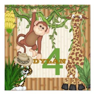 Convite personalizado aniversário do safari de