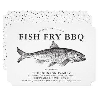 Convite personalizado da fritada de peixes partido