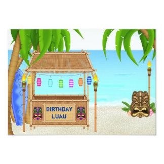 Convite personalizado do aniversário de Luau