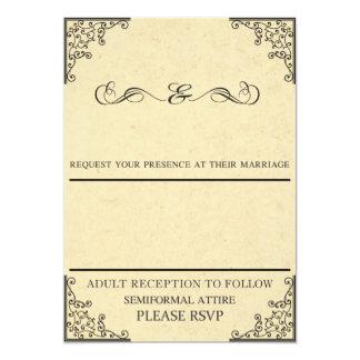 Convite personalizado do casamento vintage