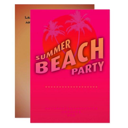 Convite personalizado partido da praia do verão