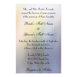 Convite pintado do casamento do arco-íris papelaria