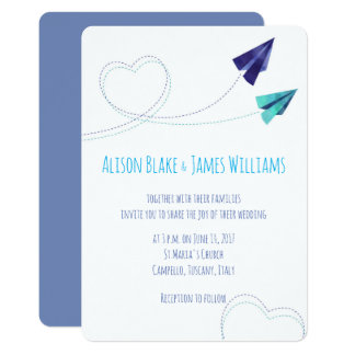 Convite plano de papel do casamento da aguarela