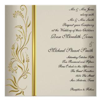Convite popular do casamento do creme de café