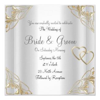 Convite popular e elegante do casamento de prata