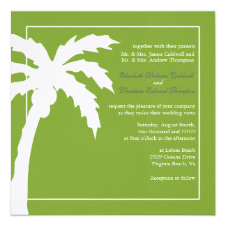 Convite-prado tropical do casamento da palmeira