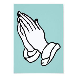 Convite Praying das mãos